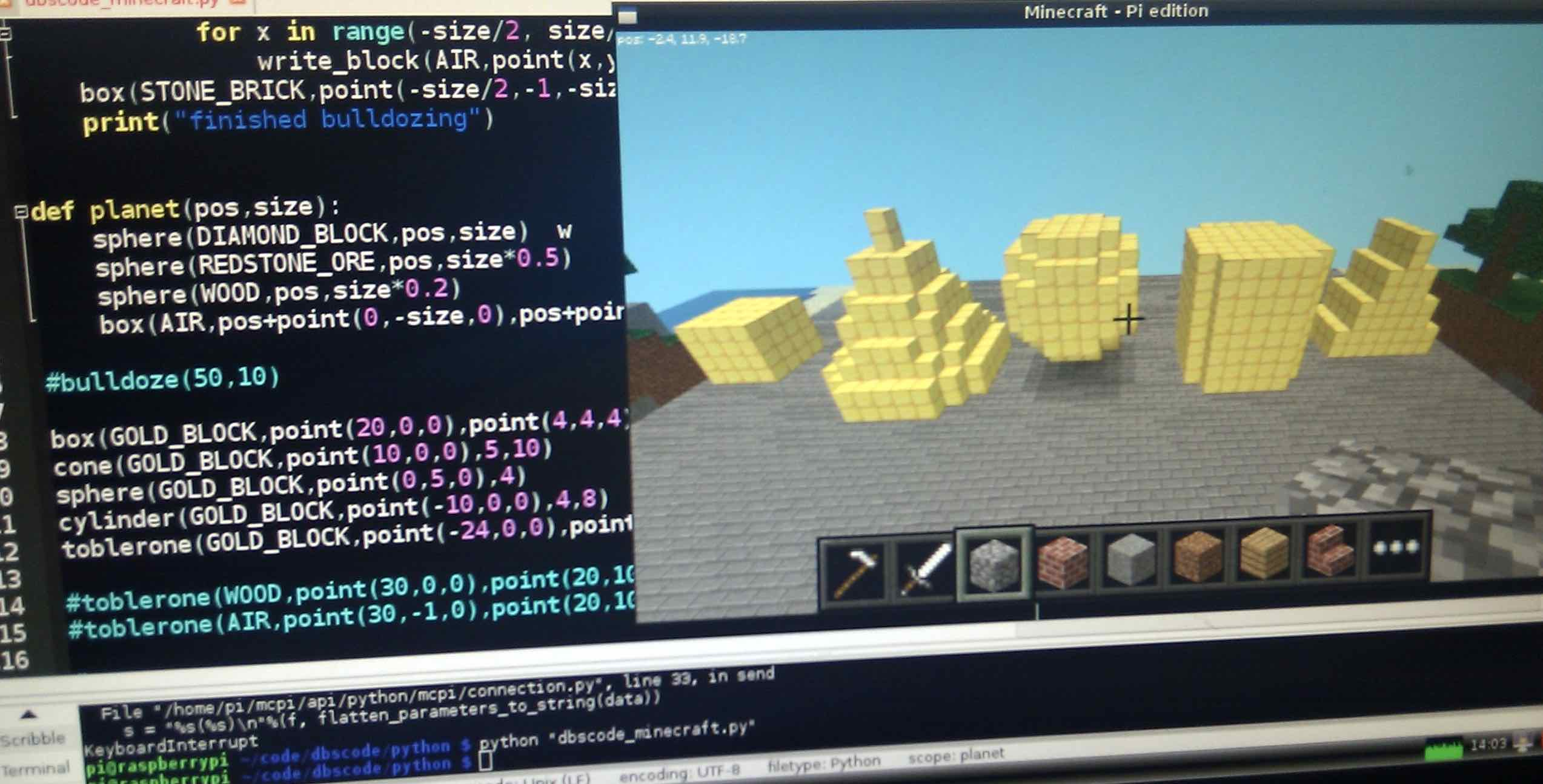 Python Programming with Minecraft | Coding Minds Academy